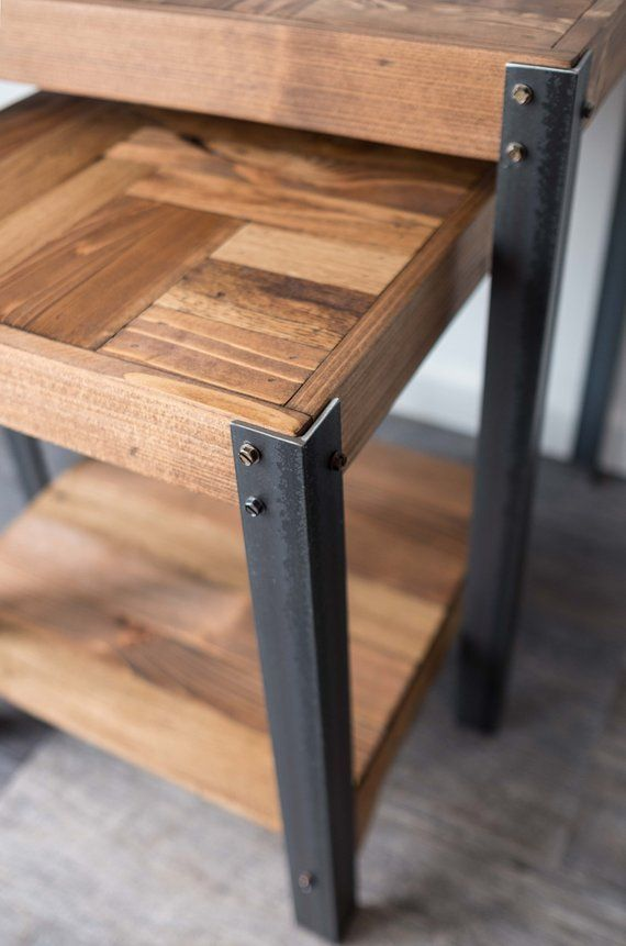 Palette Holz Nisttische mit unterem Regal in 2020 (mit