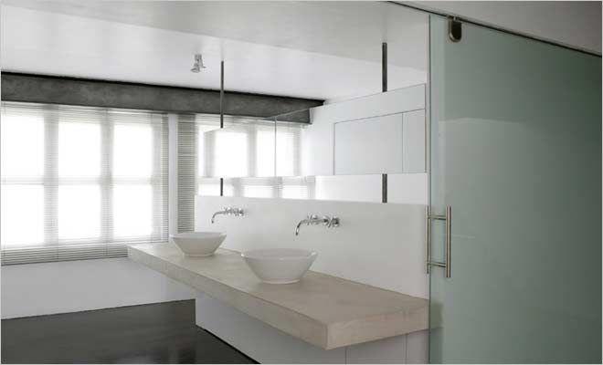 Open badkamer loft industriële en minimalistische inrichting home