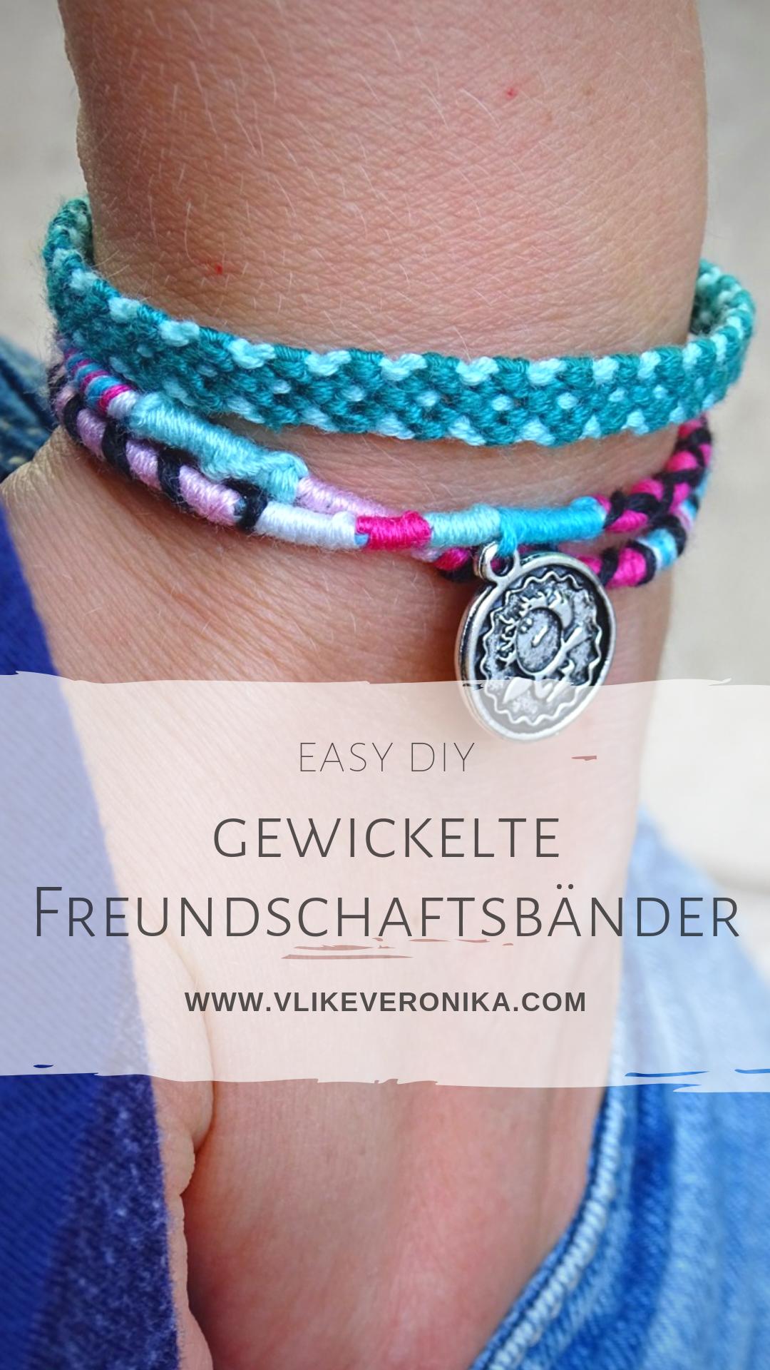 Gewickeltes Freundschaftsband Armband Selber Machen Anleitung Freundschaftsbander Armband Selber Machen