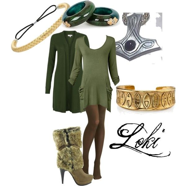 Loki- God of Mischief, created by doryishness on Polyvore. Yes, please.