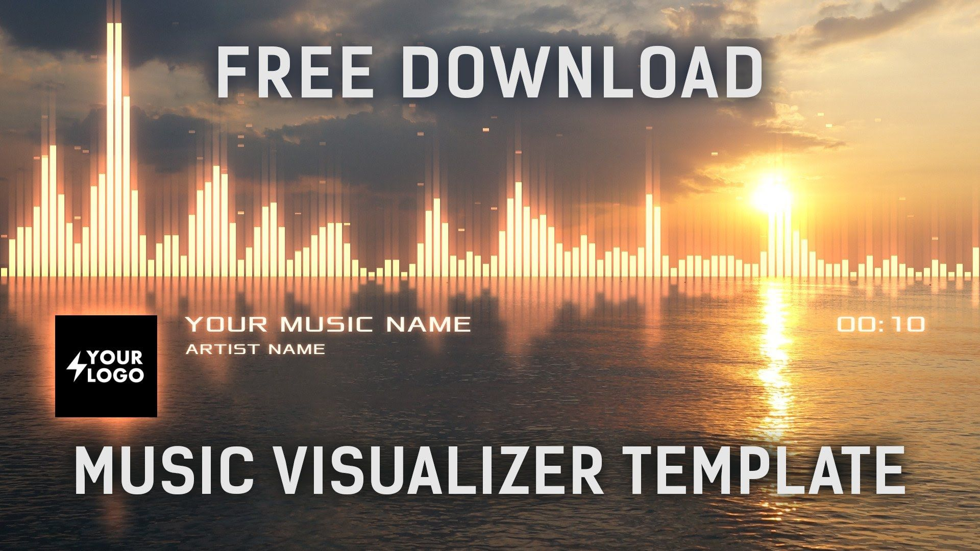 Audio Spectrum Music Visualizer After Effects Template [Free