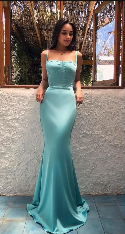 Mermaid Prom Dresses Spaghetti Straps Sleeveless Sweep Train Evening Formal  Dress G6500 from Ulass a71a5d71de70