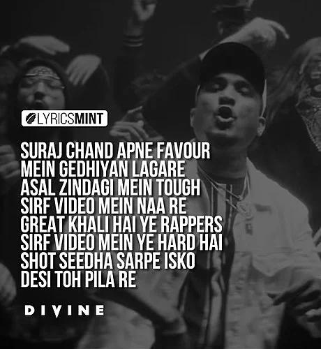 Kohinoor Lyrics Divine À¤• À¤¹ À¤¨ À¤° Lyrics In Hindi Rapper Quotes Rap Lyrics Rap Quotes