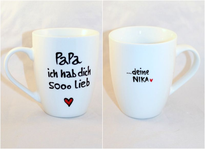 personalisiertes papa kind geschenk tasse mit name von lovely cups auf inspiration. Black Bedroom Furniture Sets. Home Design Ideas