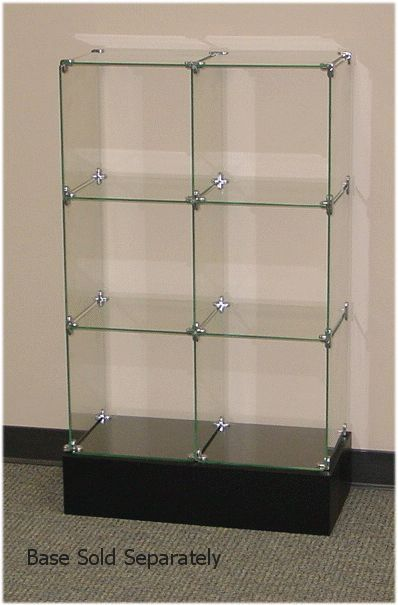 "Clear 10/"" X 16/"" Tempered Glass for Display Cubes"