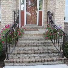 Image result for stone steps with handrail