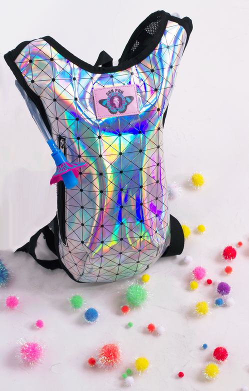 31c6e4dd315 Hologram hydration backpack! Pacifier mouthpiece!! #danpak #stayhydrated