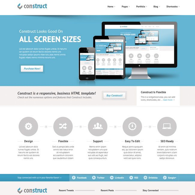Construct – Responsive HTML5/CSS3 Template | Best HTML Templates ...