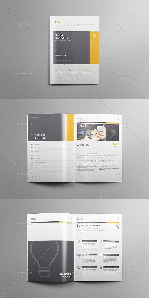 40 Pages Elegant Project Proposal Template Indesign Word