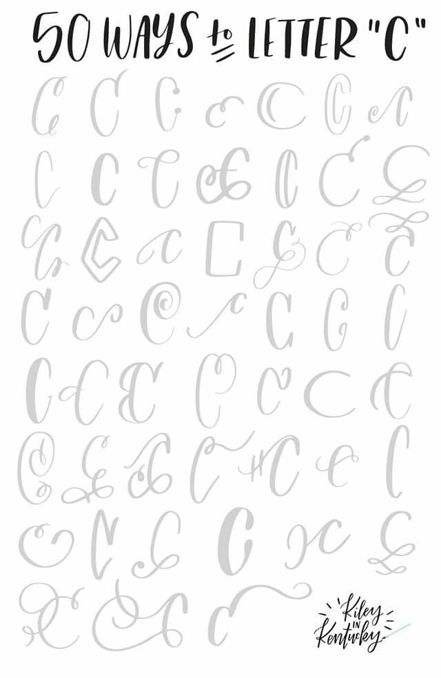 50 ways to letter c | Hand Lettering Inspiration and Tutorials