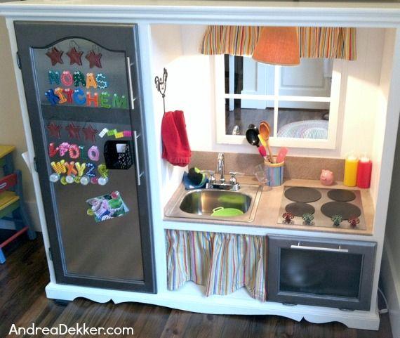 Center Entertainment Homemade Play Kitchen