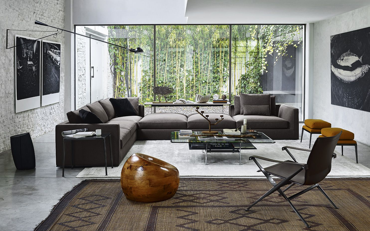 Living Room Michel Club Sofa B&B Italia Interior design