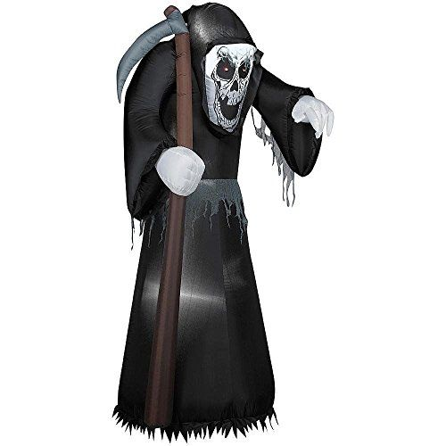 55 Foot Airblown Reaper with Scythe Halloween Airblown Inflatable - lowes halloween inflatables