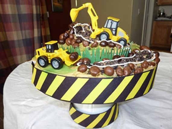 Bulldozers Birthday Cake