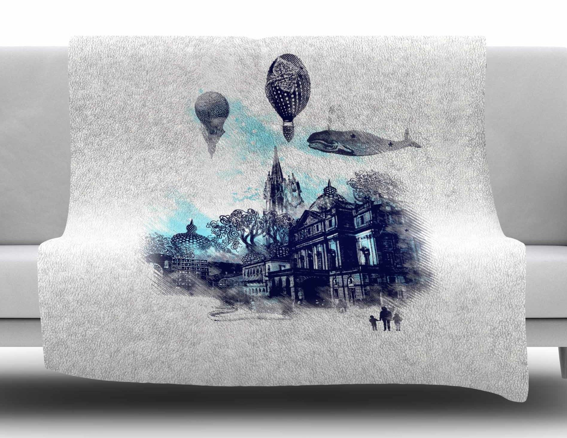 Strange town by frederic levyhadida fleece throw blanket products