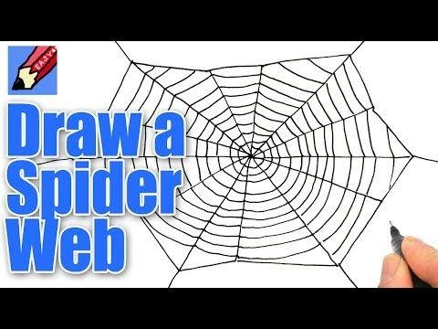 How To Draw A Spiders Web For Halloween Real Easy Art School
