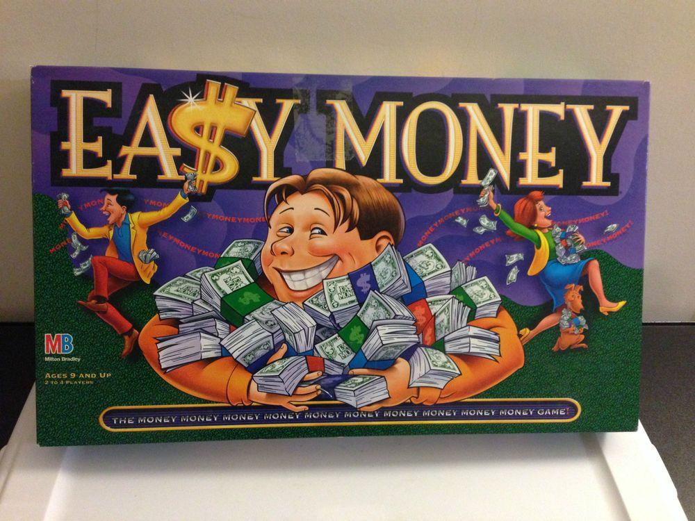 easy money board game milton bradley 1996 almost on simply wall street id=12745