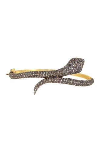 Champagne Diamond Bypass Snake Bangle Bracelet - 2.20 ctw from HauteLook on Catalog Spree