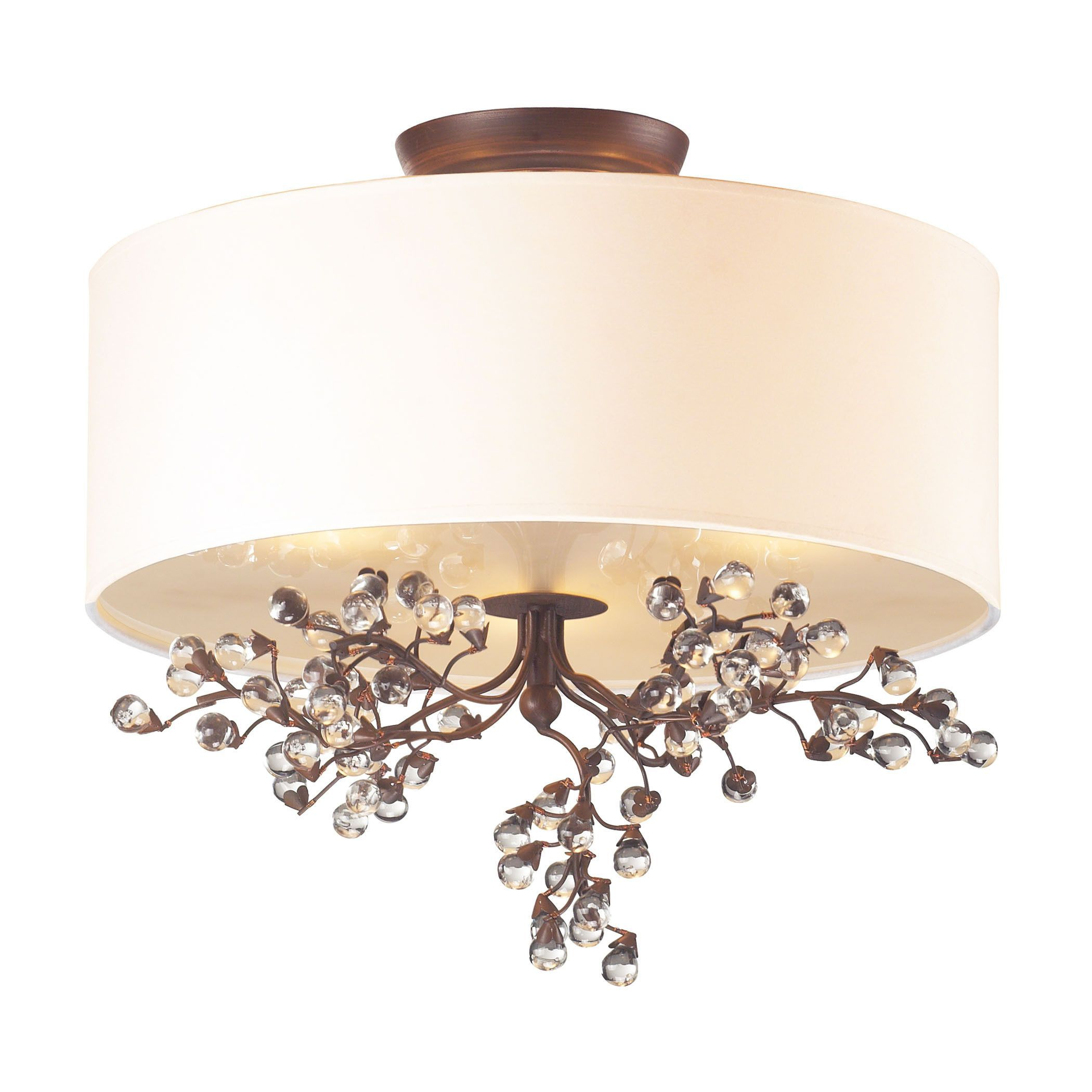 The beautiful cornerstone antique darkwood winterberry 3 light semi ceiling arubaitofo Image collections