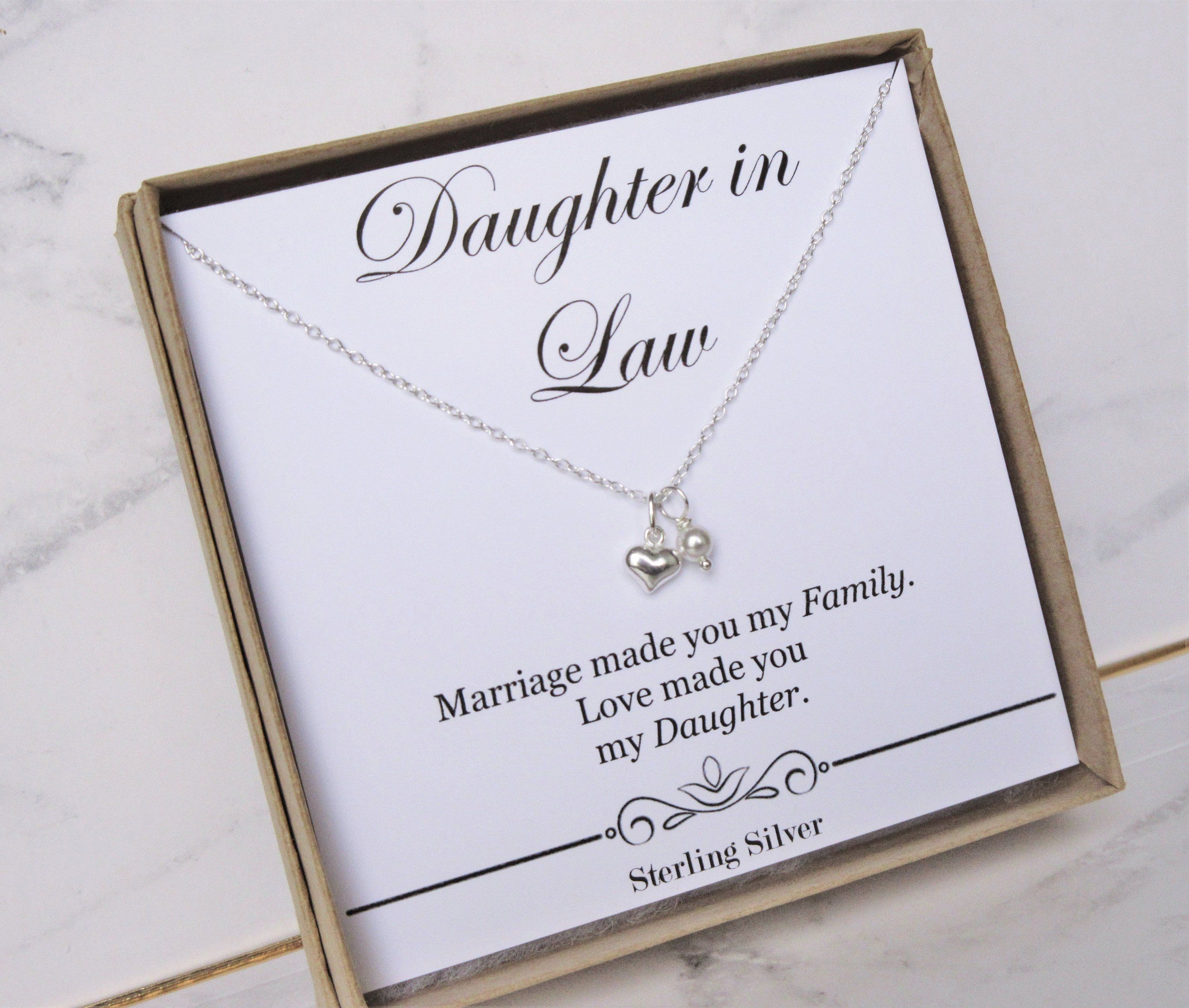 Daughter in law gift necklace wedding gift jewelry from