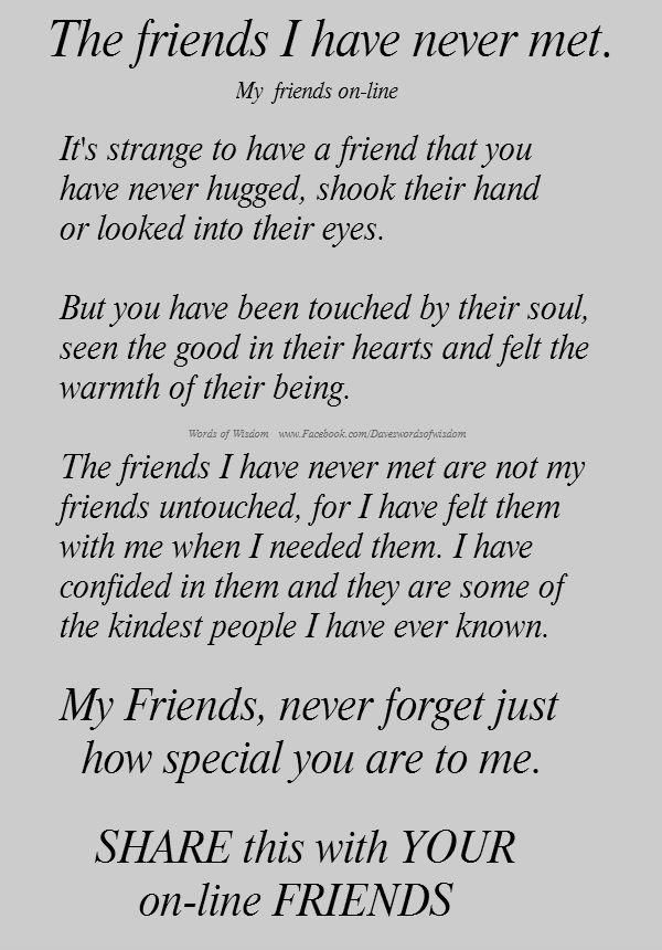 Thank You Friends Internet Friends Quotes Friends Quotes Internet Friends