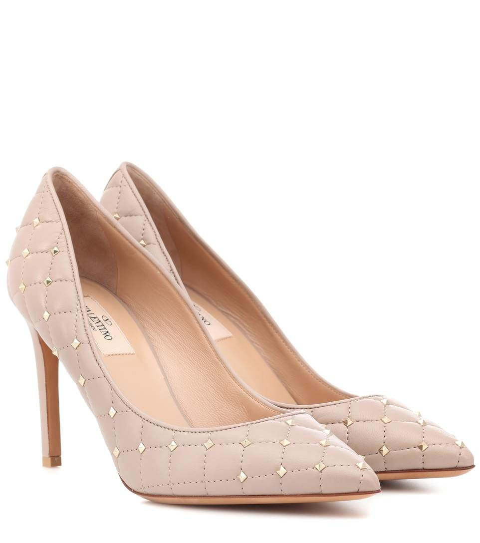 35c373636b Valentino Rockstud Spike leather pumps   Shoes and Bags   Pumps ...