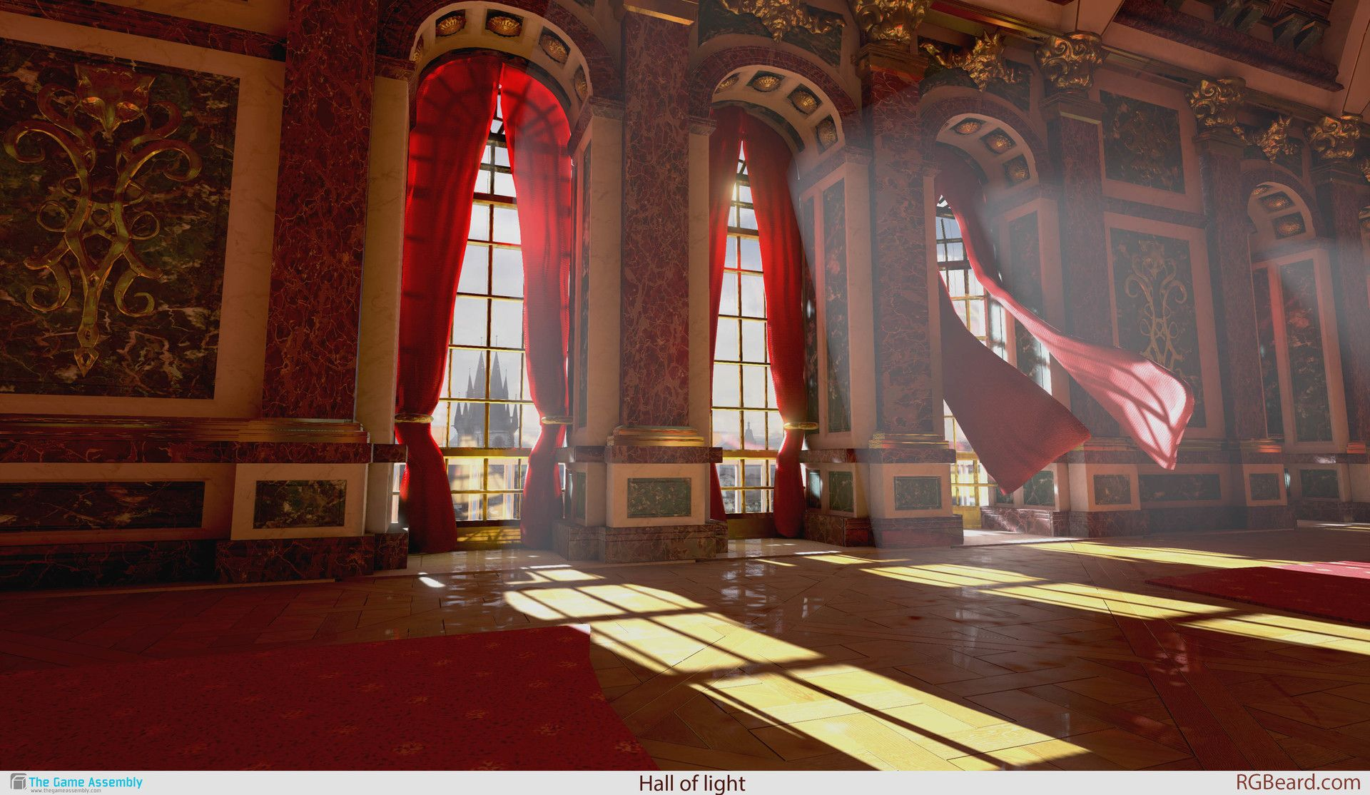 ArtStation Hall of light, Alexander Samuelsson Anime