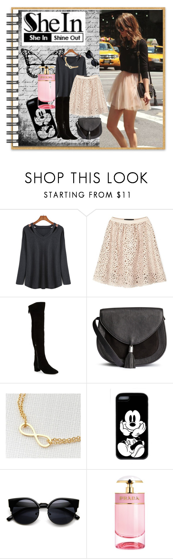 """""""SheIn"""" by bamra ❤ liked on Polyvore featuring Karl Lagerfeld, Nine West, Prada, women's clothing, women's fashion, women, female, woman, misses and juniors"""
