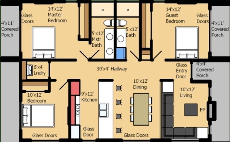 planos de casas de una planta rectangular proyectos que