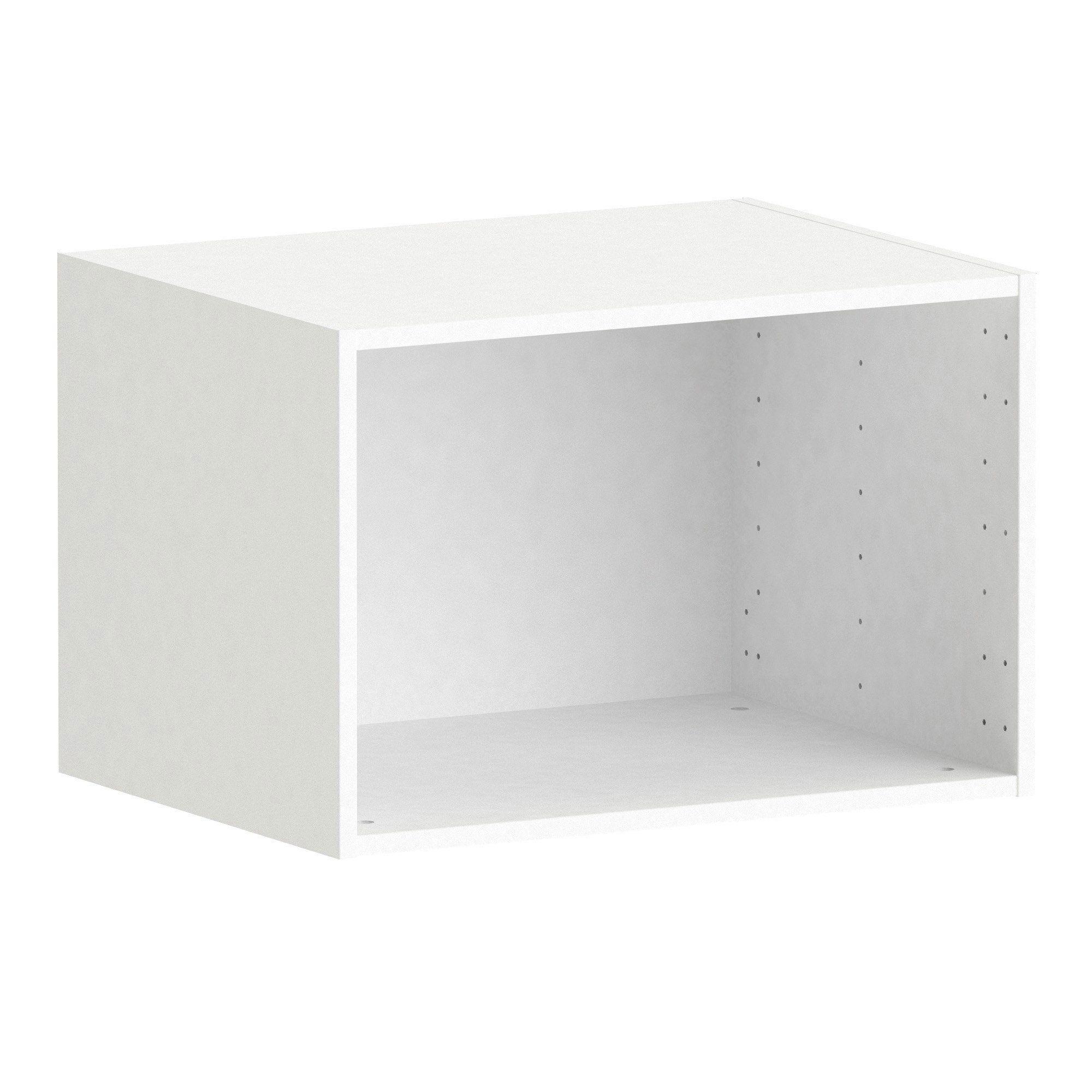 Caisson Spaceo Home Blanc H 40 X L 60 X P 45 Cm Rangement Dressing Amenagement Placard Et Meuble Rangement