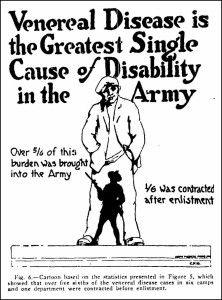"Cartoon in ""Venereal Disease Control in the Army,"" in"