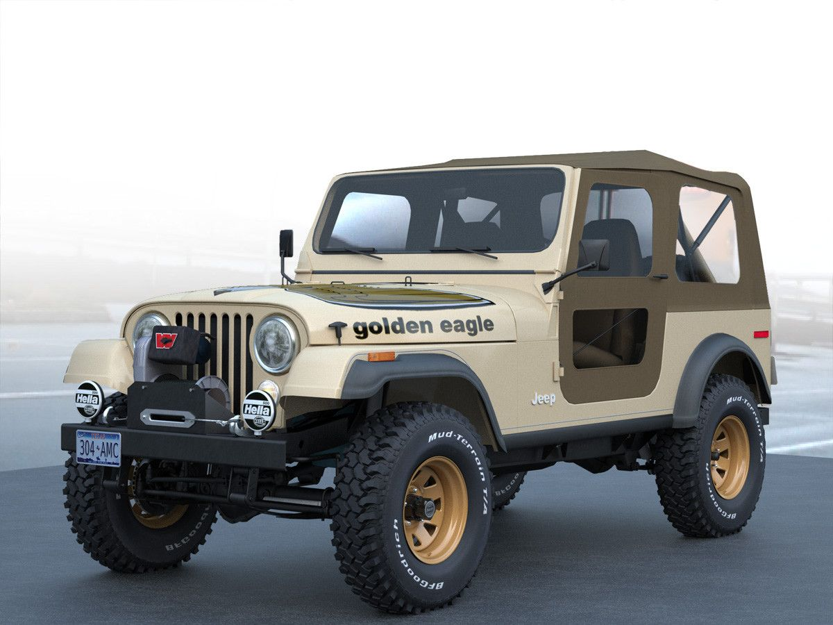 Jeep Cj 7 Golden Eagle C4d Jeep Cj