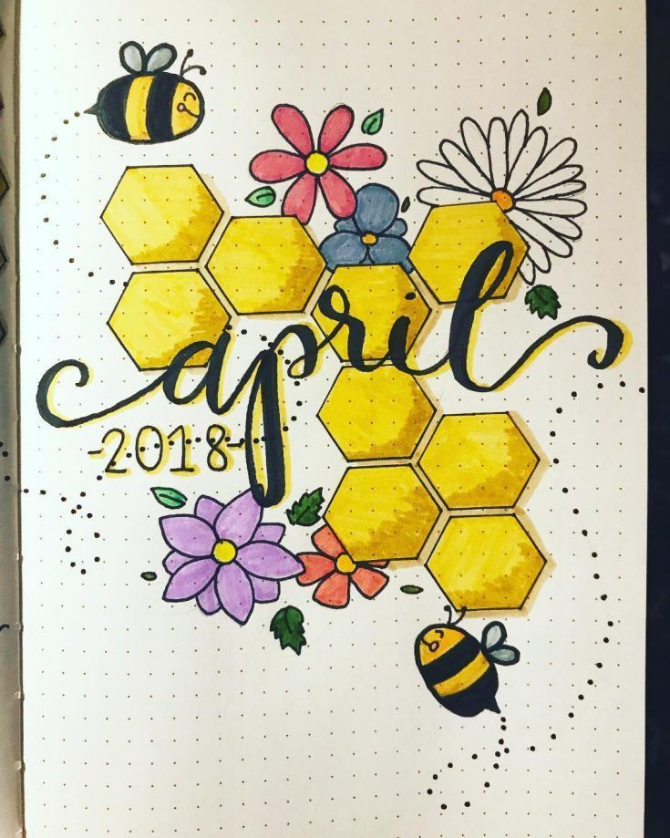 35 Best April Bullet Journal Monthly Cover Page Ideas - Bliss Degree