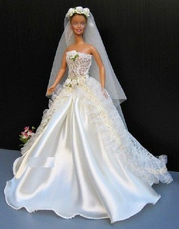 Vestido de novia o fiesta para barbie o muñeca similar. nuevo 224 ...