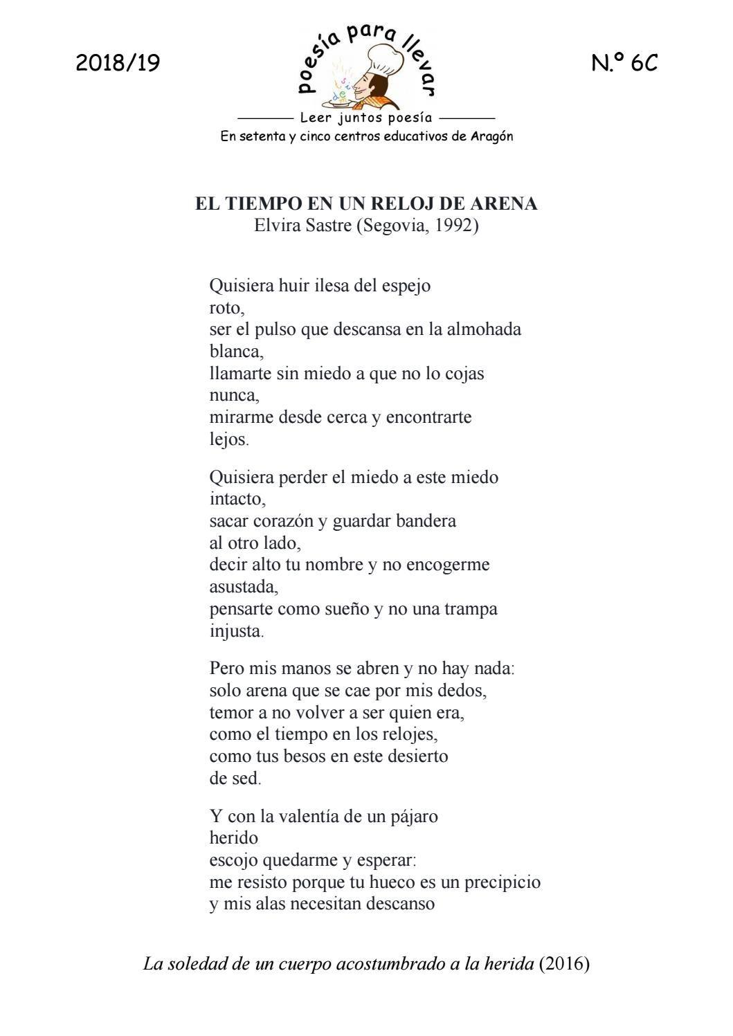Ppll1819 6c Elvira Sastre El Tiempo En Un Reloj De Arena Literature Phrase Quotes