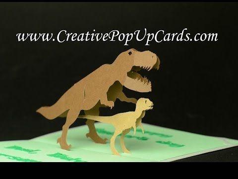 Dinosaur Pop Up Card Tutorial Pop Up Card Templates Card Tutorial Pop Up Cards