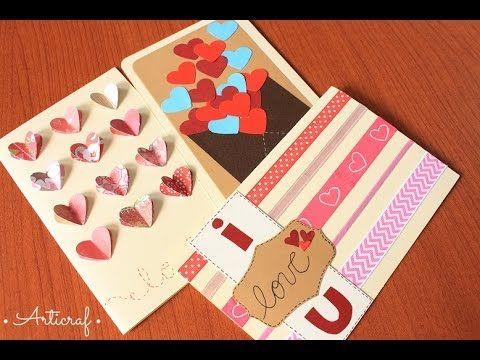 Cartas / Tarjetas Fáciles, Rápidas y Bonitas Para el Novio | Regalos para San Valentín - YouTube