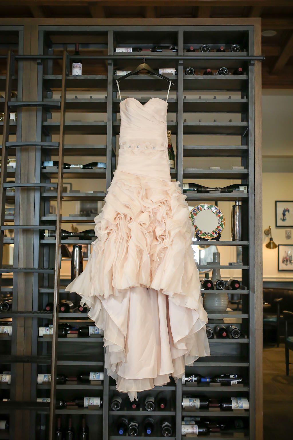 Wedding dress centerpiece  Tropical Blush Pink u White Downtown Tampa Wedding  Pinterest