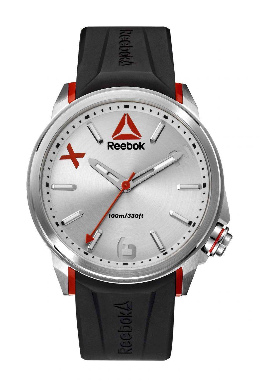 b2e0eff773dfbc Reebok Flashline Mens Analog Japanese-Quartz Stainless Steel Watch with  Black Silicone strap - RD-FLA-G2-S1IB-1R