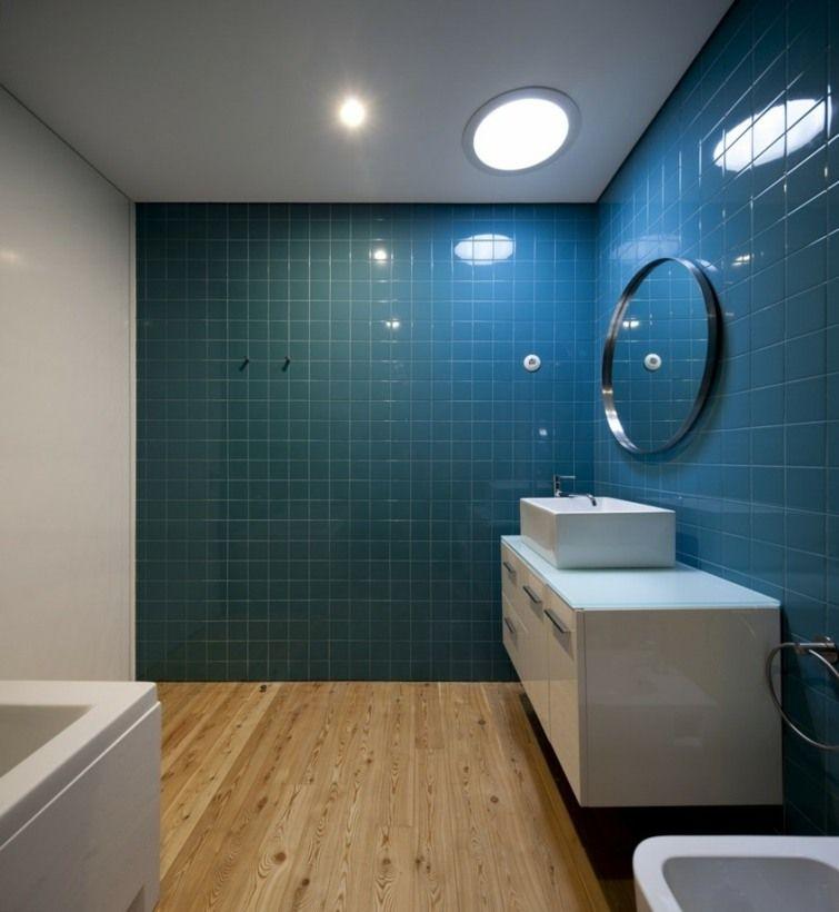carrelage bleu ides dco pour cuisine et salle de bain - Carrelage Bleu Salle De Bain