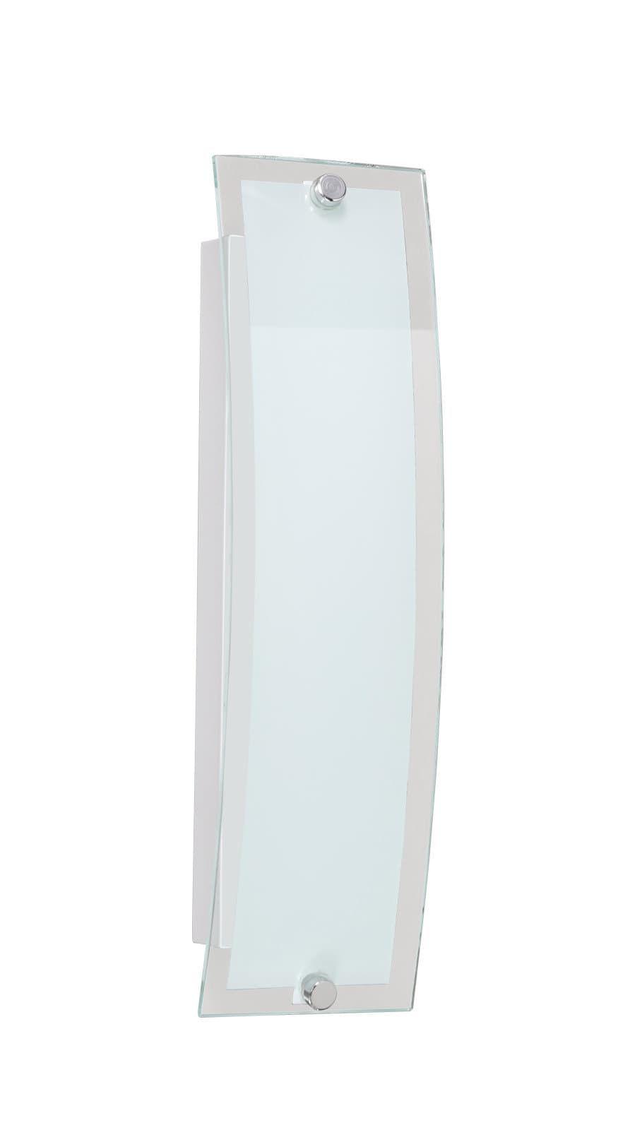 Led Wandleuchte Lorenz Nickel Matt Glas Wohnzimmer