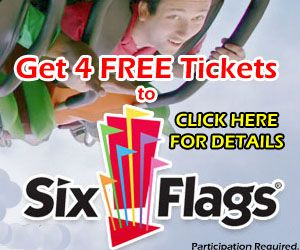 Get 4 Free Tickets To Six Flags Six Flags Gift Card Cards