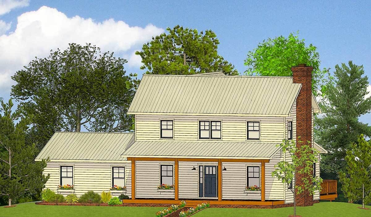 Exclusive Farmhouse Plan with Open Concept Living ...