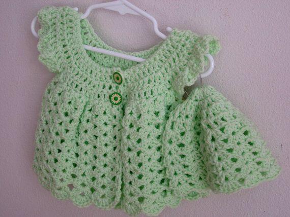 Crochet sweater baby girl angel wings boho & by divasvintage, $16.00