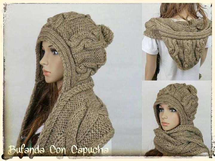 Gorro bufanda tejida | Tejido | Pinterest | Crochet, Knitting y Knit ...