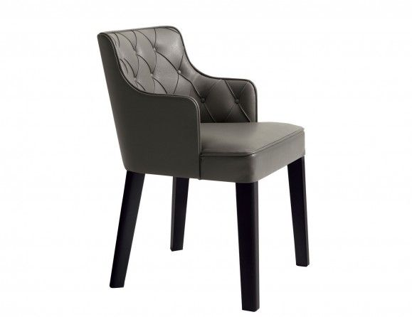 Nella Vetrina Lusso Royale Capitone Italian Dining Chair Endearing Leather Dining Room Chairs With Arms Design Decoration