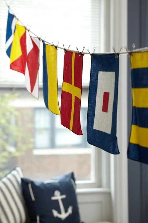 Decorating With Nautical Flags All Things Nautical Pinterest