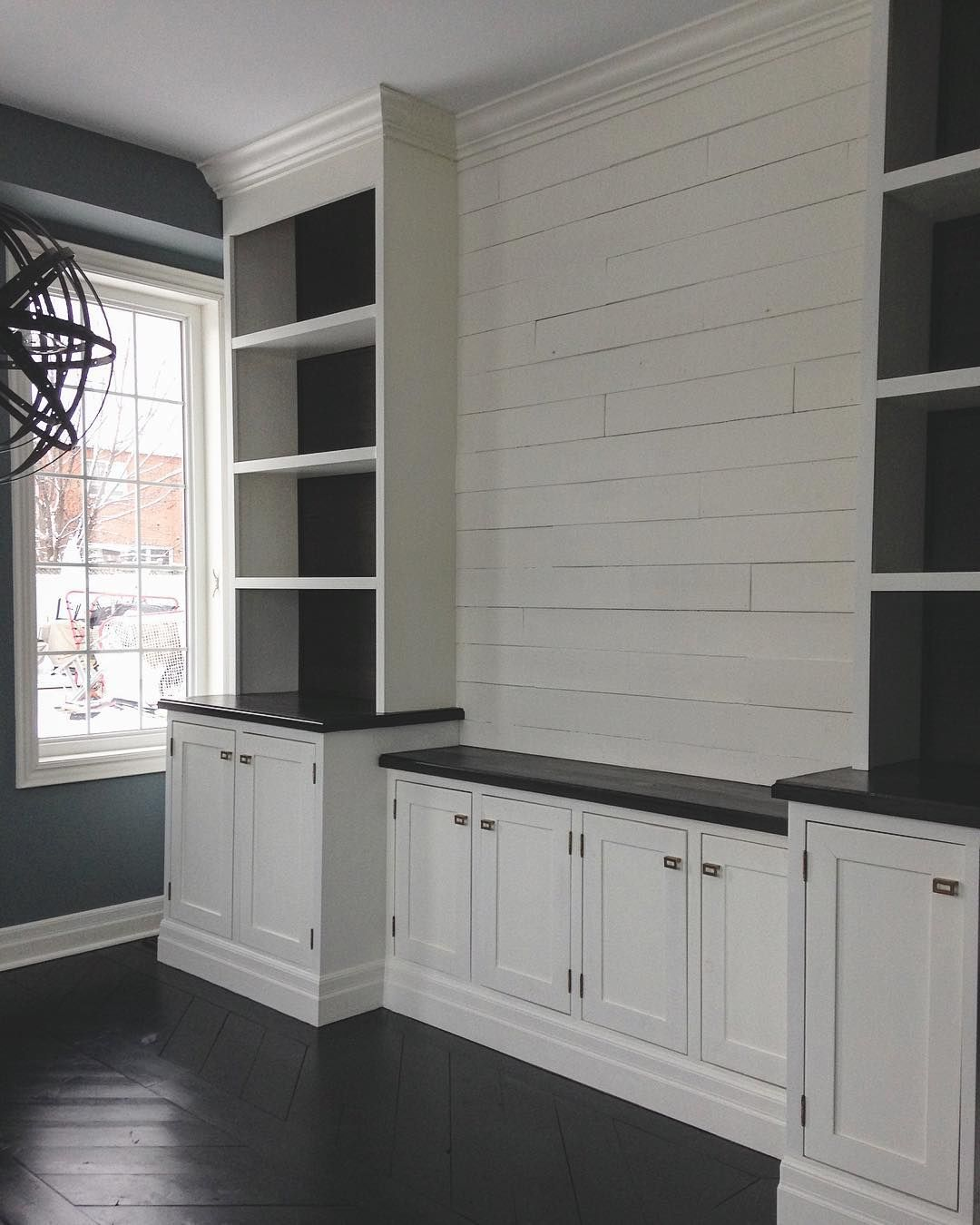 I Really Did Love This Room That Wall Of Uneven Rustic Shiplap I Look Forward To Building Somethin Living Room Built Ins Remodel Bedroom Room Remodeling
