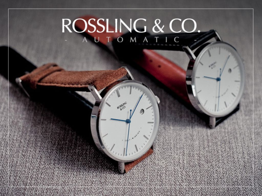 Rossling & Co - Ultra-Thin Automatic Watches & Suede Straps's | Kickstarter