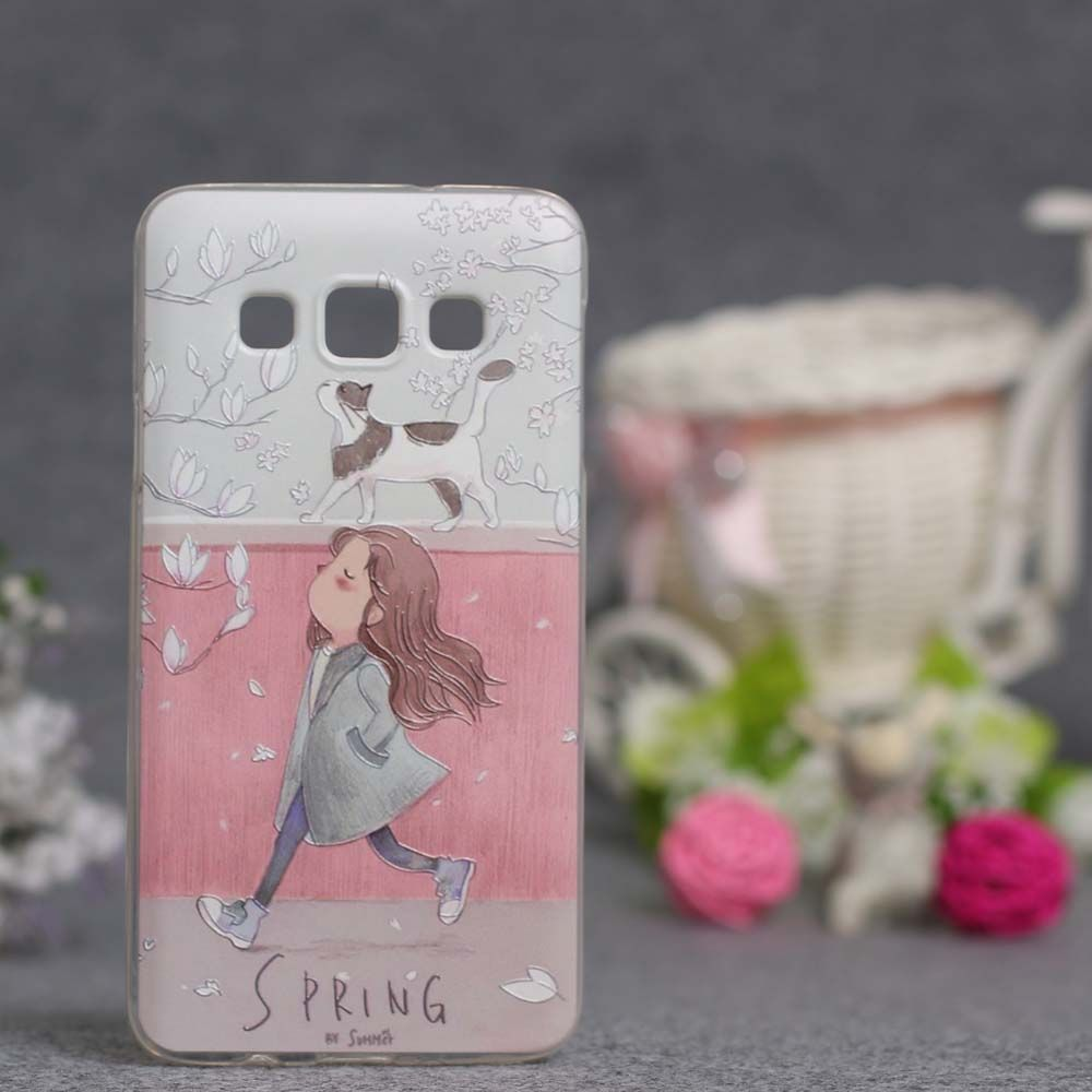 Luxury Phone Cover For Samsung Galaxy A5 2015 Cases 3D Relief Painting Soft Silicon Back Cover Case for Samsung A5 A500 A5000-in Phone Bags & Cases from Phones & Telecommunications on Aliexpress.com | Alibaba Group